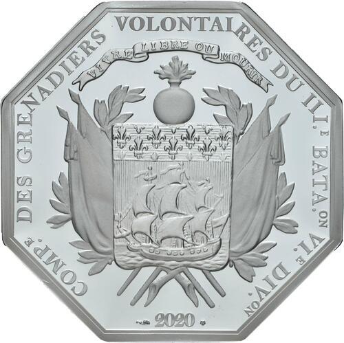 Rückseite:Frankreich : 25 Euro La Fayette  2020 PP