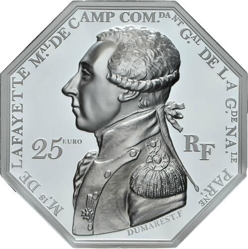 Vorderseite:Frankreich : 25 Euro La Fayette  2020 PP