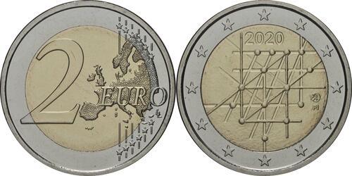 Lieferumfang:Finnland : 2 Euro Universität von Turku  2020 Stgl.