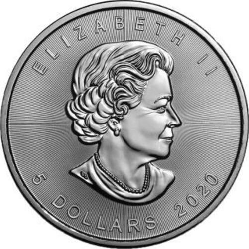 """Vorderseite:Kanada : 5 Dollar Maple Leaf - Nordlichter """"Buffalo"""" #5  2020 Stgl."""