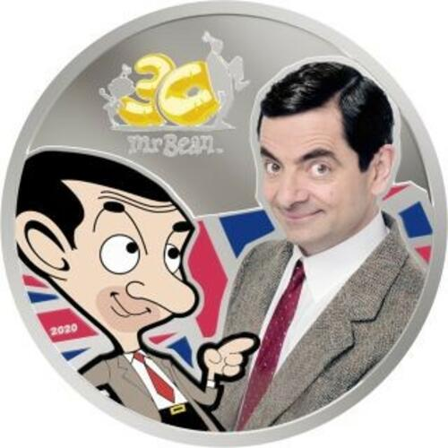 Lieferumfang:Cook Islands : 5 Dollar Mr. Bean - im Blister  2020 PP