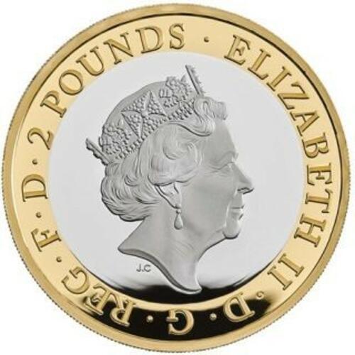 Rückseite:Großbritannien : 2 Pfund James Cook 3 - 250 J. Entdeckungsreise  2020 PP