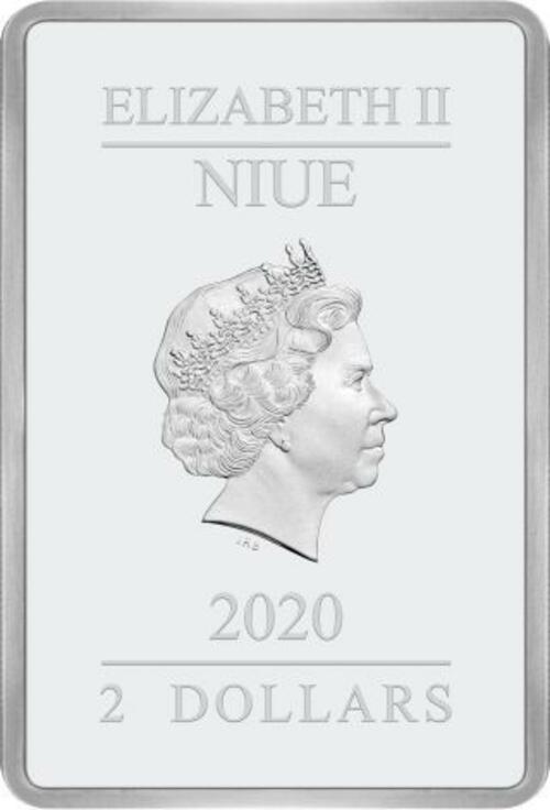 Rückseite:Niue : 2 Dollar Star Wars Poster - The Rise of Skywalker  2020 PP