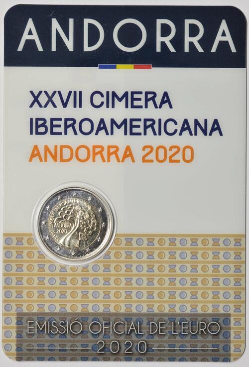Lieferumfang:Andorra : 2 Euro 27. Iberoamerikanische Gipfeltreffen in Andorra  2020 bfr