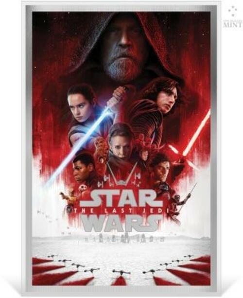 Lieferumfang:Niue : 2 Dollar Star Wars - Der letzte Jedi/Premium Silver Foil  2020 Stgl.