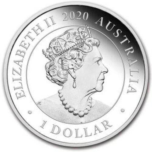 Rückseite:Australien : 100 Dollar Schwan im Etui  2020 PP