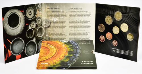 Lieferumfang:Lettland : 5,88 Euro KMS Lettland Keramik  2020 Stgl.