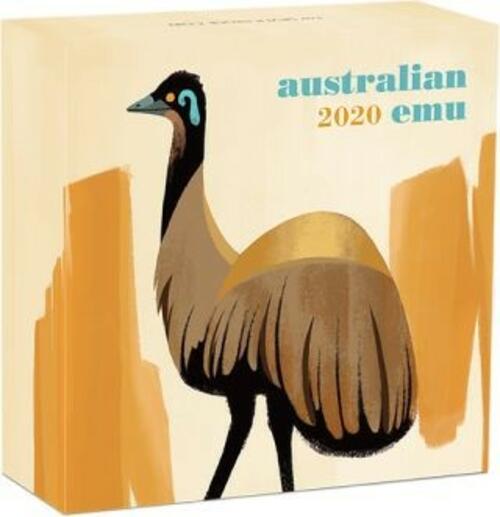 Zertifikat:Australien : 1 Dollar Emu  2020 PP
