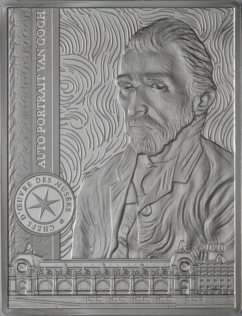 Vorderseite:Frankreich : 10 Euro Van Gogh/Selbstportrait  2020 PP