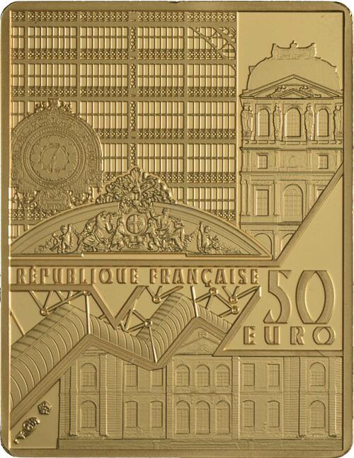 Rückseite:Frankreich : 50 Euro Van Gogh/Selbstportrait  2020 PP
