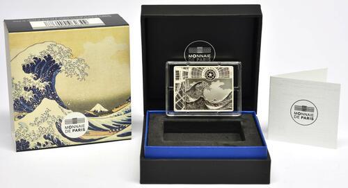 Lieferumfang:Frankreich : 10 Euro Hokusai/Die Welle  2020 PP