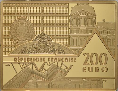 Rückseite:Frankreich : 200 Euro Hokusai/Die Welle  2020 PP