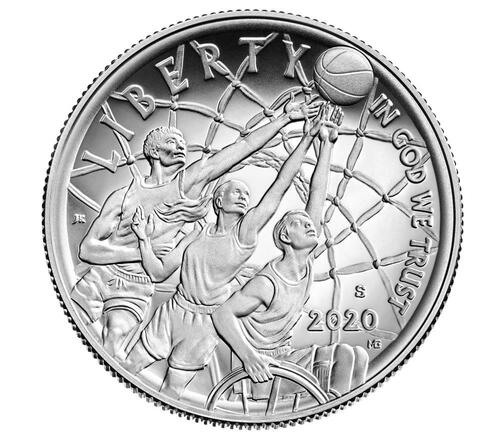 Vorderseite:USA : 1/2 Dollar Basketball - Hall of Fame  2020 PP