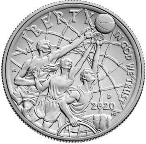 Vorderseite:USA : 1/2 Dollar Basketball - Hall of Fame  2020 Stgl.