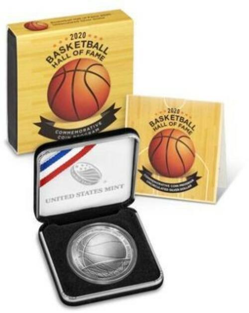 Lieferumfang:USA : 1 Dollar Basketball - Hall of Fame  2020 Stgl.