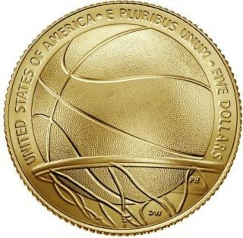 Rückseite:USA : 5 Dollar Basketball - Hall of Fame  2020 Stgl.