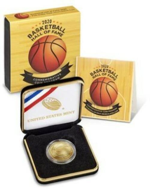 Lieferumfang:USA : 5 Dollar Basketball - Hall of Fame  2020 Stgl.