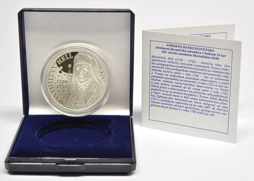 Lieferumfang:Slowakei : 10 Euro 300. Geb. Maximilian Hell (Astronom)  2020 PP