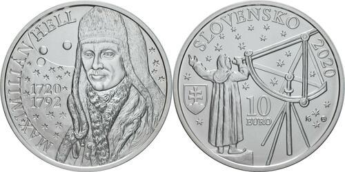 Lieferumfang:Slowakei : 10 Euro 300. Geb. Maximilian Hell (Astronom)  2020 Stgl.