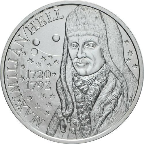 Vorderseite:Slowakei : 10 Euro 300. Geb. Maximilian Hell (Astronom)  2020 Stgl.
