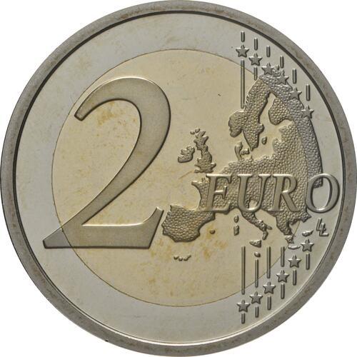 Vorderseite:Italien : 2 Euro 150. Geburtstag von Maria Montessori  2020 PP