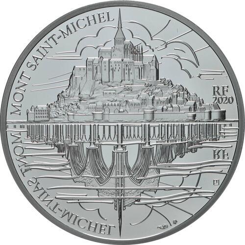 Vorderseite:Frankreich : 10 Euro Die Drei Berge - Mt. St.-Michel  2020 PP