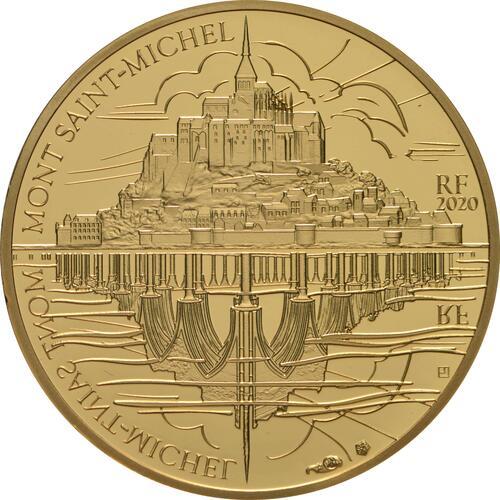 Vorderseite:Frankreich : 50 Euro Die Drei Berge - Mt. St.-Michel  2020 PP