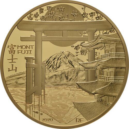 Vorderseite:Frankreich : 200 Euro Die Drei Berge - Mt. Fuji  2020 PP