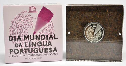 Lieferumfang:Portugal : 5 Euro Welttag der Portugiesischen Sprache  2020 PP