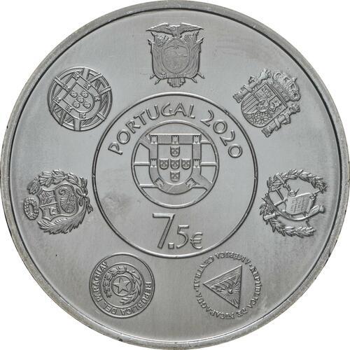Rückseite:Portugal : 7,5 Euro Douro Eisenbahnlinie - Iberoamerikan. Serie  2020 bfr