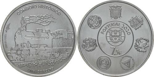 Lieferumfang:Portugal : 7,5 Euro Douro Eisenbahnlinie - Iberoamerikan. Serie  2020 bfr