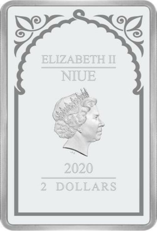 Rückseite:Niue : 2 Dollar Erzengel Michael - Erzengel #2  1 oz  2020 PP