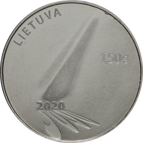 Rückseite:Litauen : 1,5 Euro Corona - Hoffnung  2020 Stgl.