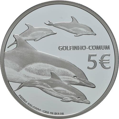 Rückseite:Portugal : 5 Euro Delfin  2020 PP