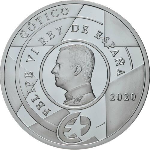 Rückseite:Spanien : 10 Euro Gothik - Europastern  2020 PP