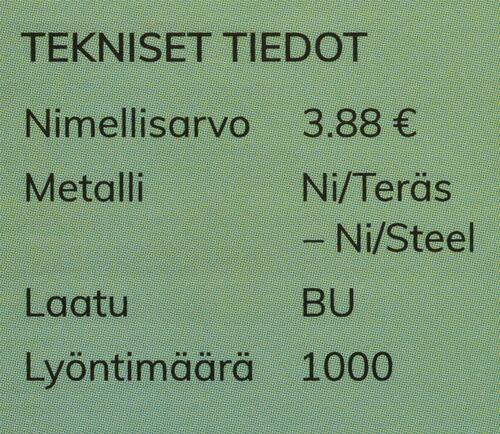 Zertifikat:Finnland : 3,88 Euro KMS Finnland Hochzeit  2020 Stgl.