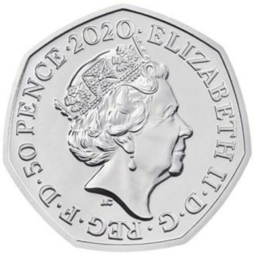 Rückseite:Großbritannien : 50 Pence Rosalind Franklin Piedfort - im Etui  2020 PP