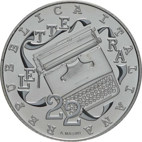 Vorderseite:Italien : 5 Euro Olivetti weiß  2020 Stgl.