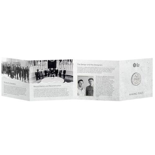 Zertifikat:Großbritannien : 5 Pfund 75 Jahre Ende WW2 - Blister  2020 Stgl.