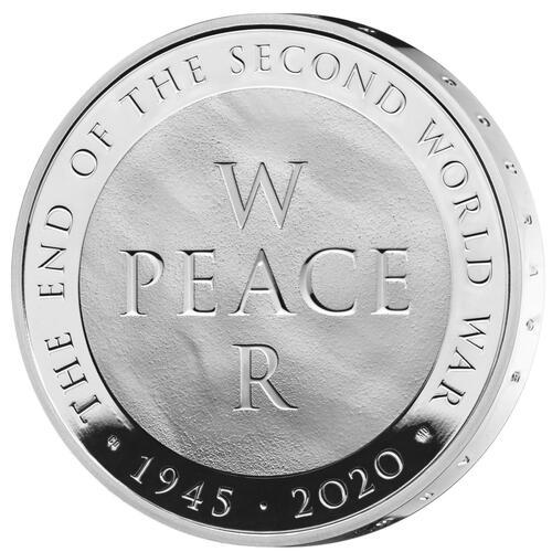 Vorderseite:Großbritannien : 5 Pfund 75 Jahre Ende WW2  2020 PP