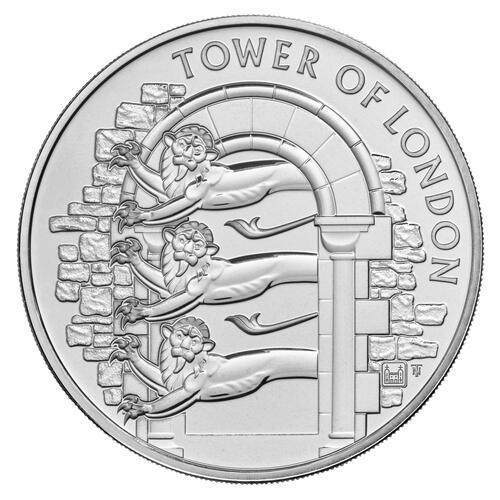 Rückseite:Großbritannien : 5 Pfund Der Tower von London – Die königliche Menagerie  2020 Stgl.