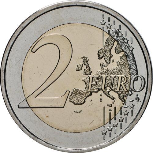 Vorderseite:Finnland : 2 Euro 100. Geburtstag von Väinö Linna   2020 Stgl.