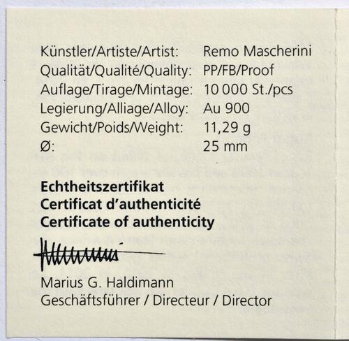 Zertifikat:Schweiz : 50 sfr Roger Federer  2020 PP