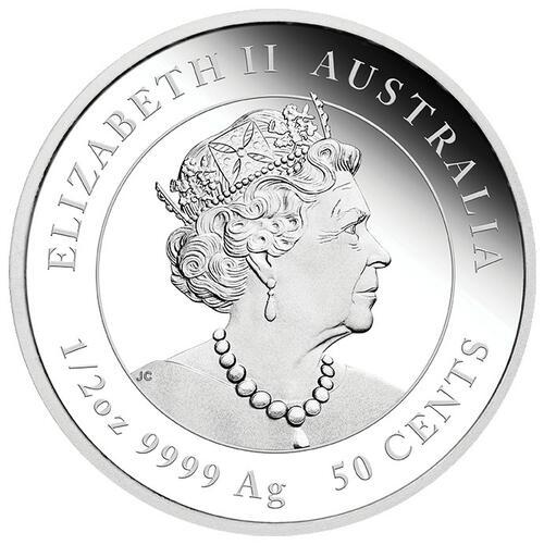 Rückseite:Australien : 0,5 Dollar Jahr des Ochsen  2021 PP