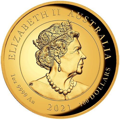 Rückseite:Australien : 100 Dollar Winged Victory   2021 PP