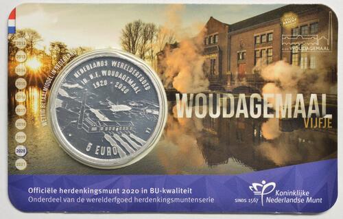 Lieferumfang:Niederlande : 5 Euro Wouda-Pumpwerk  2020 Stgl.
