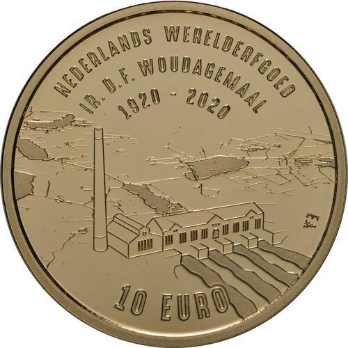 Vorderseite:Niederlande : 10 Euro Wouda-Pumpwerk  2020 PP