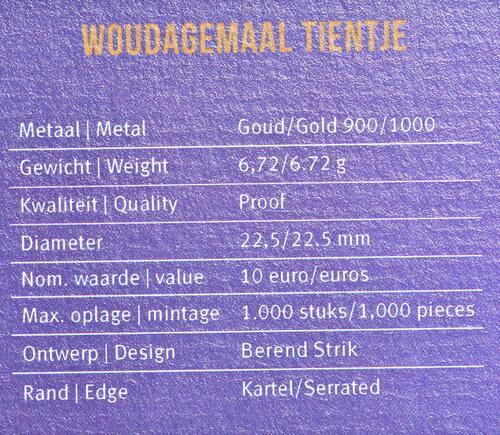 Zertifikat:Niederlande : 10 Euro Wouda-Pumpwerk  2020 PP