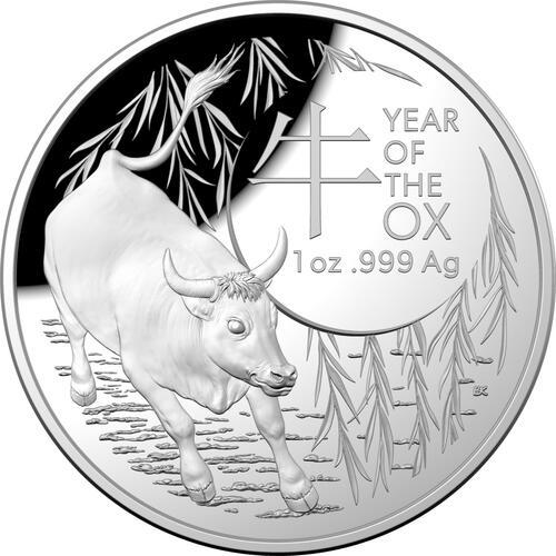 Vorderseite:Australien : 5 Dollar Jahr des Ochsen (RAM)   2021 PP