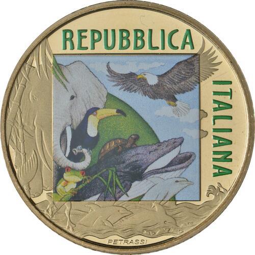 Rückseite:Italien : 5 Euro Tiger#1 farbig  2020 PP